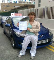 I passed my test in Ilford!